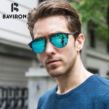 BAVIRON Similar Wooden Sunglasses Unisex Retro Trend Sun Glasses Acetate Anti-UV400  Polarized Sunglasses Fashion Eyewear 15144