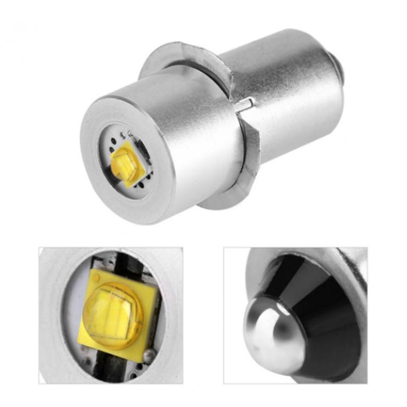 2 Pcs 3W <font><b>LED</b></font> Small Bulb P13.5s <font><b>E10</b></font> Series <font><b>LED</b></font> Bulb 3V/4-12V/6-<font><b>24V</b></font> JDH99 image