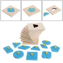 Развивающая игрушка Монтессори формы сортировка-пазл в виде геометрических фигур доска дошкольного образования детей