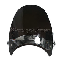 Wind Deflectors Windshield Windscreen For 06 11 Harley Sportster 1200 Low XL1200L Nightster XL1200N Iron 883