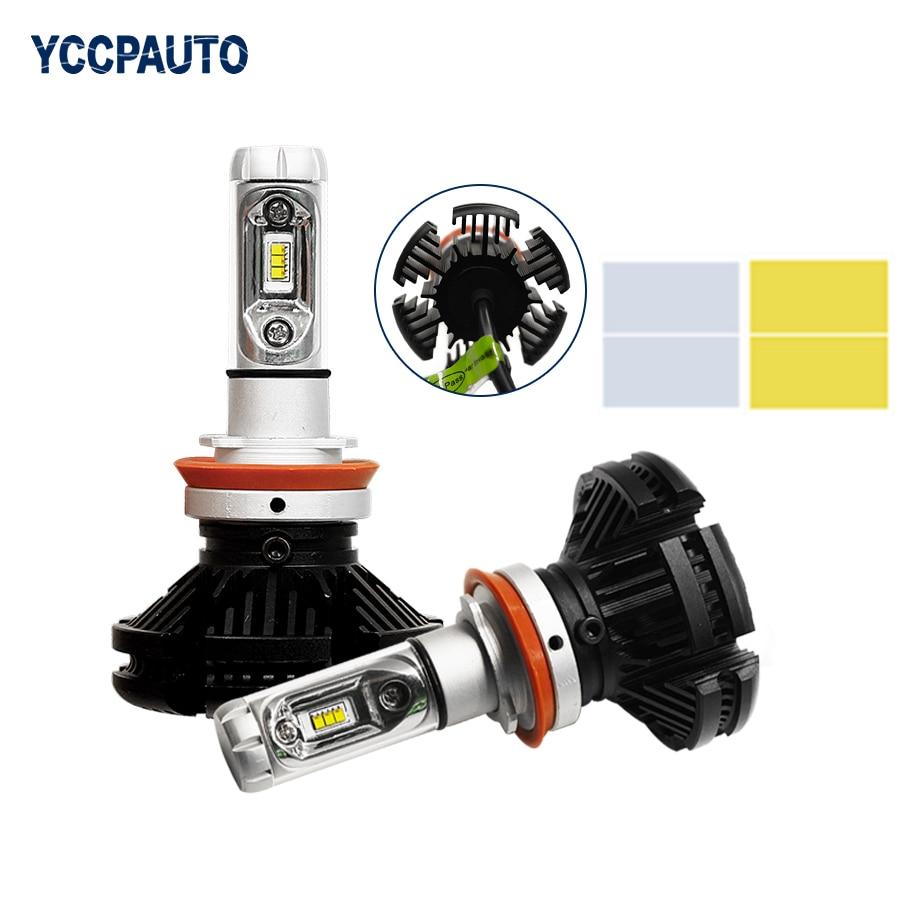 H4/H7/H11/H8/9005/9006 Car LED Headlight Bulbs CREE Chips Automobiles Auto Fog Light 12v 24v 3000K/6500K/8000K 50W 6000lm 2pcs