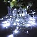 1 M 10 Led Luces de Hadas de la Secuencia de la Navidad Al Aire Libre Jardín Del Banquete de Boda Led Batería Cuerdas de Colores