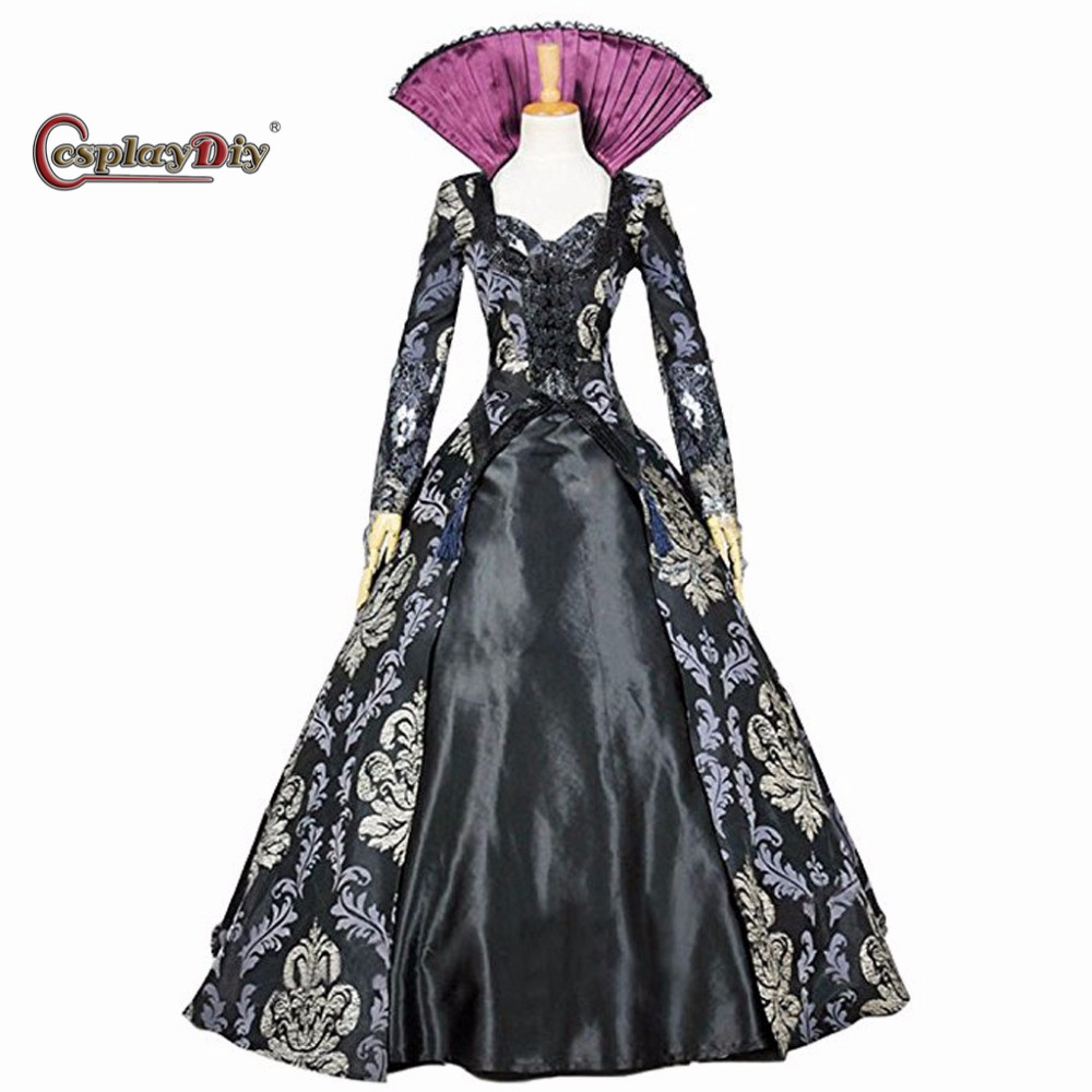 Cosplaydiy Once Upon A Time Regina Mills Dress Costume Adult Women Halloween Carnival Cosplay Clothes Custom