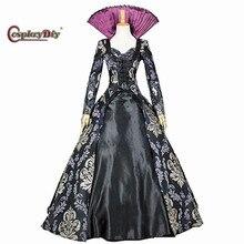 Косплэй DIY однажды Regina Дробилки платье костюм для взрослых Для женщин на Хэллоуин Карнавальный Косплэй одежда индивидуальный заказ J10