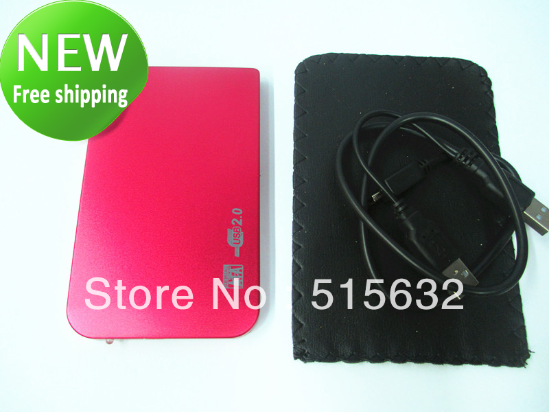 2.5 HDD USB 2.0 HARD DRIVE DISK SATA EXTERNAL CASE ENCLOSURE  RED
