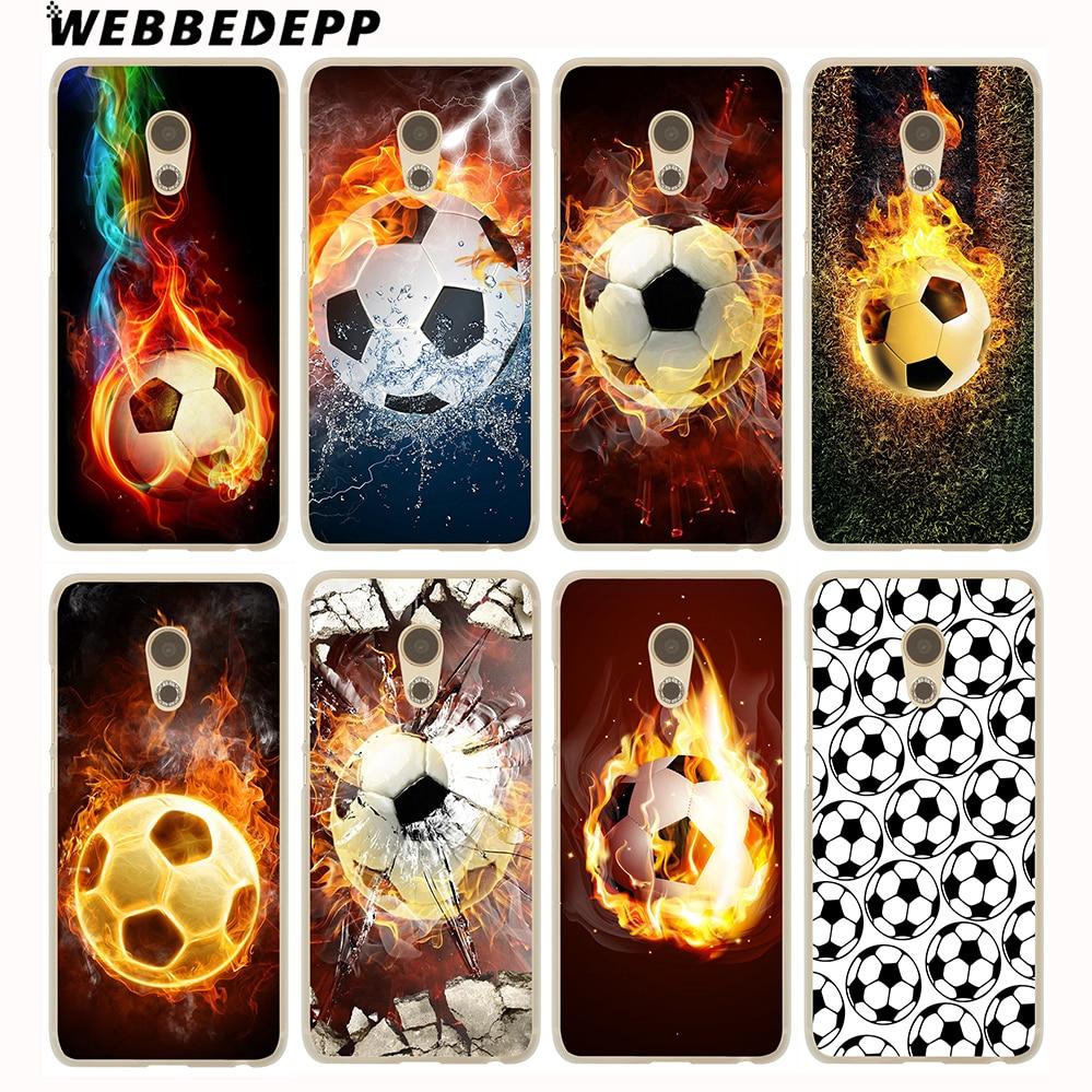 WEBBEDEPP Fire Football Soccer Ball Hard Cover Case for Meizu M6 M5C M5S M5 M3S M3 M2 Note Mini Pro 6 7 U10 U20