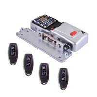 DIY сухой батарейный дверной замок s БЕСКЛЮЧЕВОЙ беспроводной 433 МГц пульт дистанционного управления дверной замок (установить внутреннюю дв