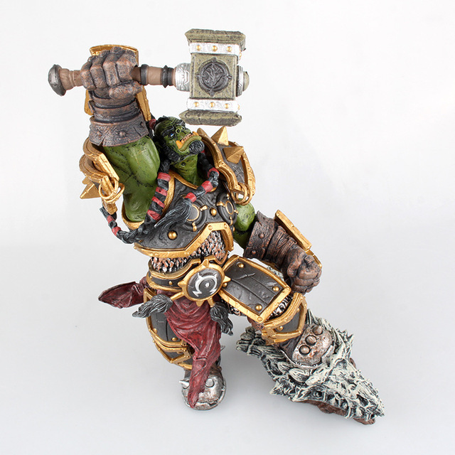 26cm DC WOW Thrall The Orc Shamman Action Figure Toys Thrall The Orc Shamman Doll PVC ACGN Figure Collectible Model Toy 4