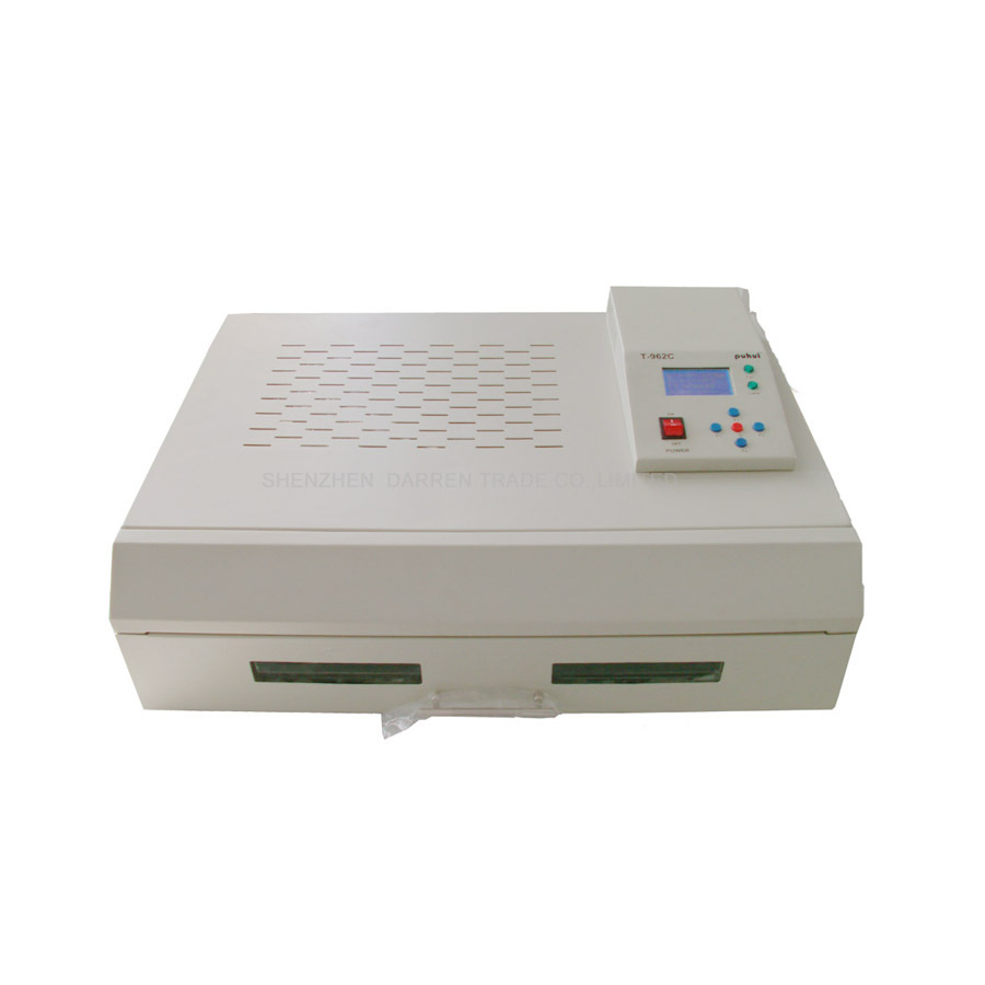 PUHUI T962C BGA Rework Station T-962C Reflow Oven Machine Infrared Heater 2500W reflow station white color ph015 puhui t 835 110v 220v bga irda welder infrared bga soldering and desoldering smd rework station t835