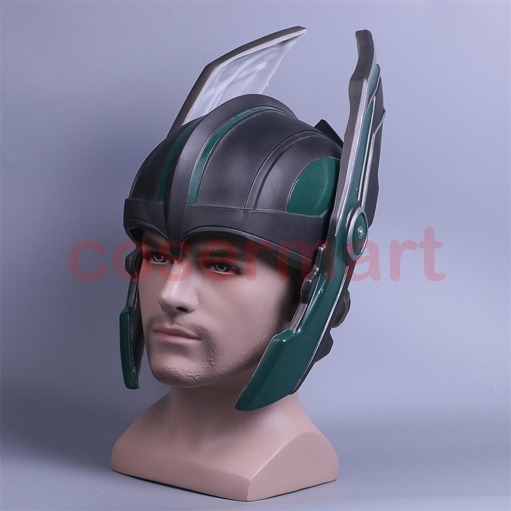 2017 Thor 3 Ragnarok Helmet Cosplay Thor Helmet PVC Mask Handmade Halloween Mask Caps New (3)