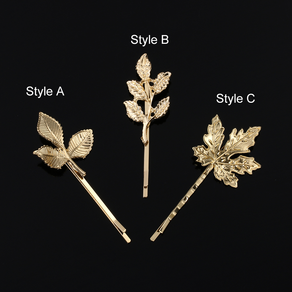 Hair Styling Tool Barrettes Leaf Shape Women Hair Clip Bride Hairpins
