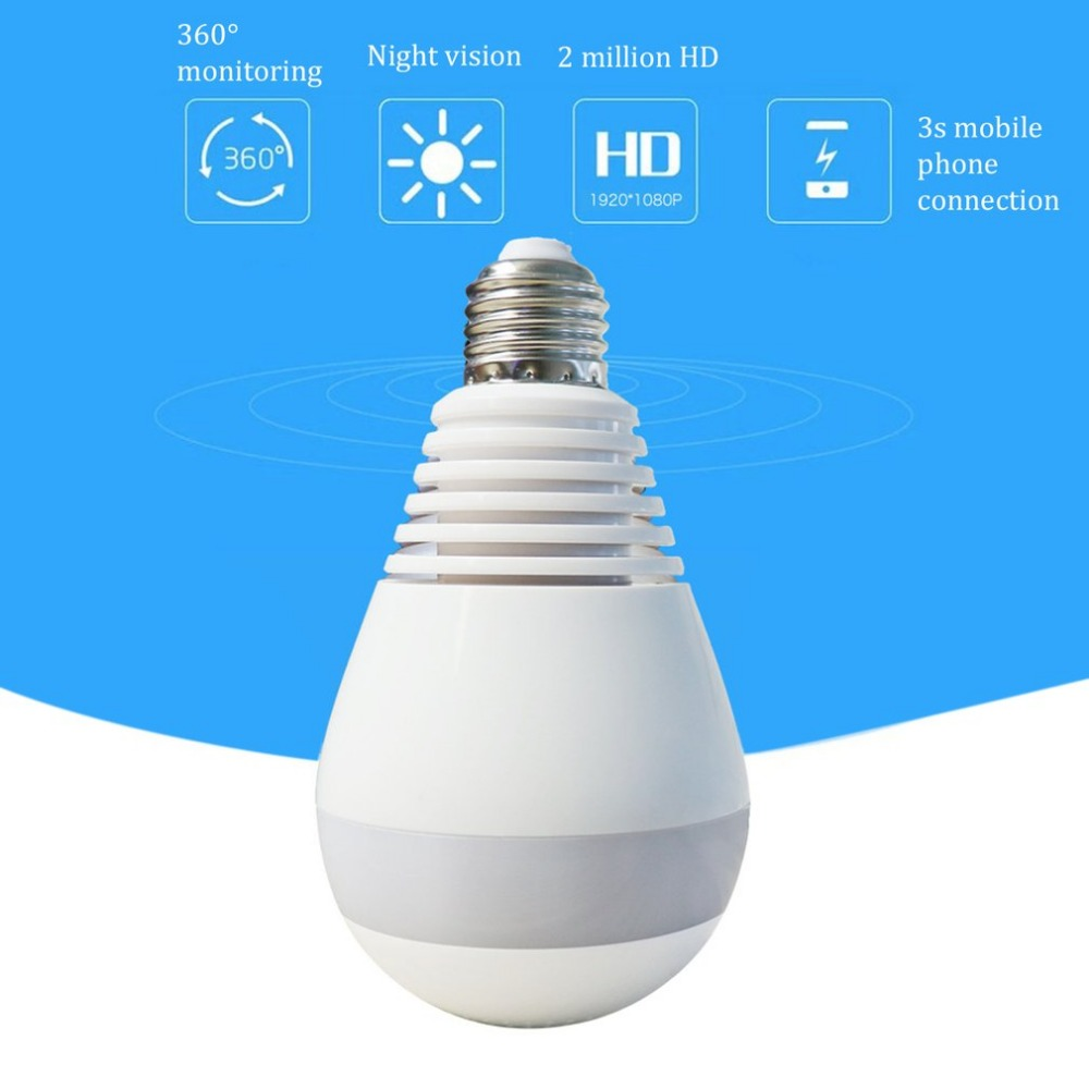 1.3MP Home Security lamp Camera Wi-Fi Wireless AP Camera 360 Degrees Panoramic 960P HD Monitor Lamp System Remote Monitoring