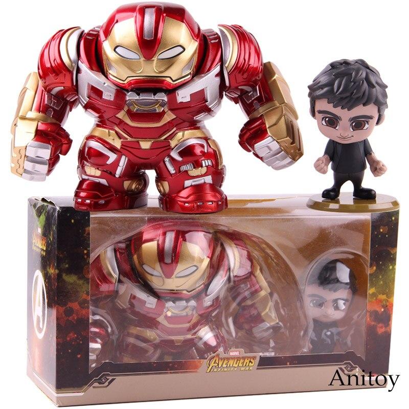 Jouets chauds Cosbaby Avengers Infinity War Hulkbuster & Bruce bannière figurine d'action Marvel PVC modèle à collectionner jouet 2 pièces/ensemble
