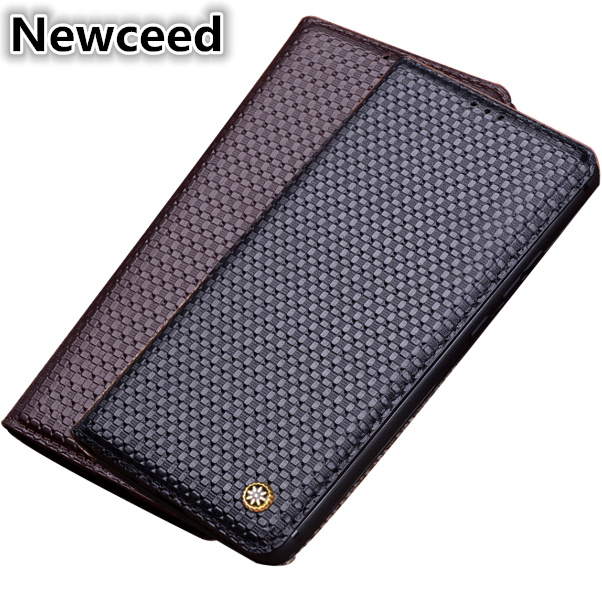 Genuine Leather Magnetic Flip Cover Mobile Phone Book Case For Samsung Galaxy J8 2018/Galaxy J6 2018/Galaxy J4 2018 Phone Case