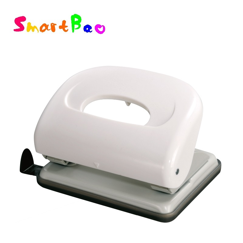 Two-hole Paper Punch, Office Document Paper Puncher, Mini Double Hole Punch for Office; Hole Size 6mm; 16 Paper Capacity #96X9 2 hole heavy duty punch 6mm holes 80mm hole distance 60 sheets capacity less force hole puncher built in paper guide