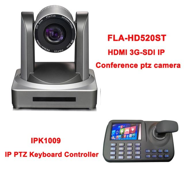 5 بوصة ثلاثية الأبعاد المقود HD شاشة الكريستال السائل IP PTZ وحدة تحكم بلوحة مفاتيح ل Onvif HDMI SDI شبكة كاميرا المؤتمر 20x زووم بصري