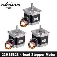 3PCS 4 lead Nema 23 23HS5628 Stepper Motor 2.8A NEMA23 Stepper Motor 57 motor CNC Laser Grind Foam Plasma Cutter