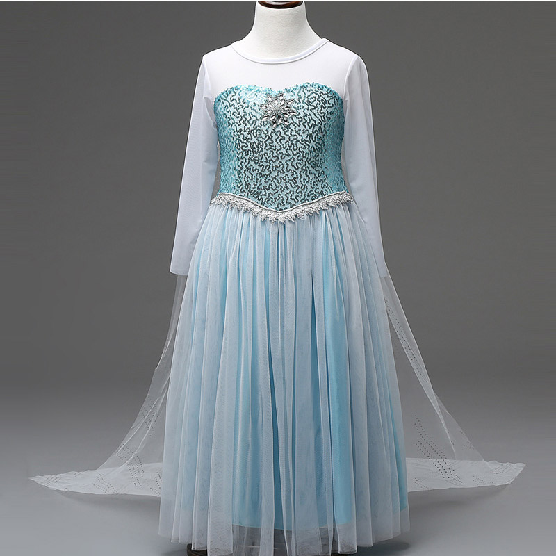 New Elsa Princess dress kids Wedding Dress Girl Dresses cosplay Summer Girl long Dress Kids- Clothes Children Long baptism girls dresses trolls poppy cosplay costume dress for girl poppy dress streetwear halloween clothes kids fancy dresses trolls wig