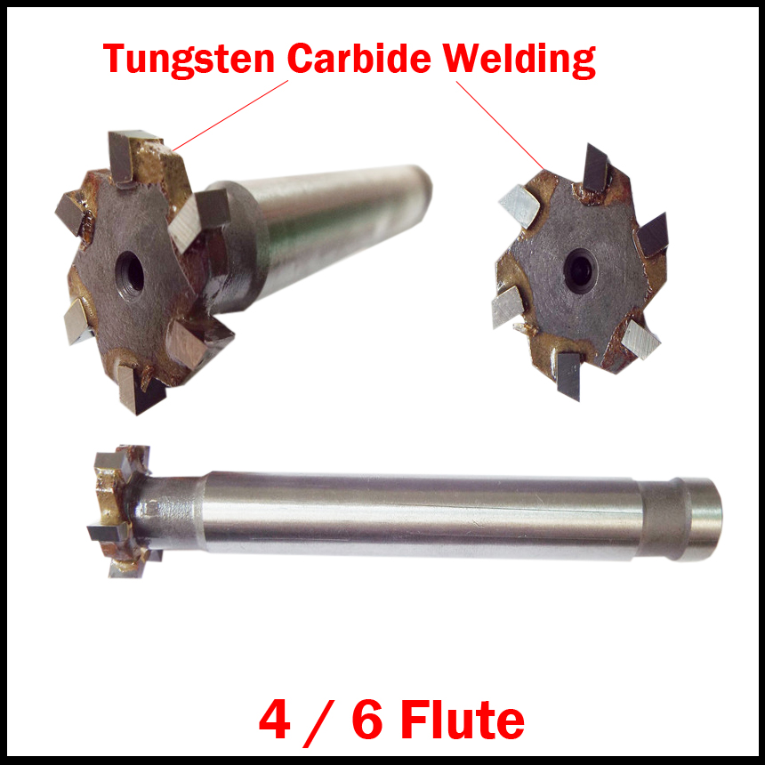 100mm OD 16 Flute Tungsten Carbide Welding Straight Shank CNC Cutting Tool T Type Router Bit Dovetail T-Slot Milling Cutter 1 2 tct tungsten carbide double two straight flute router cutter bit 6 26mm