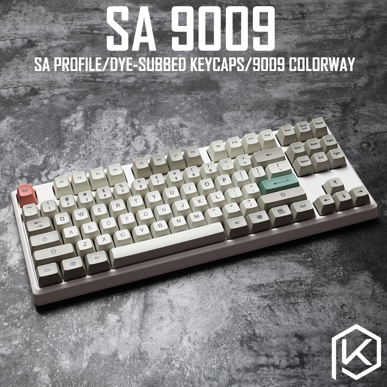 9009 colorway sa profile Dye Sub Keycap Set thick PBT plastic keyboard gh60 xd60 xd84 cospad tada68 rs96 zz96 87 104 660-in Keyboards from Computer & Office