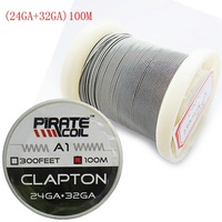 PIRATE COIL 100 m / roll A1 Electronic Cigarette Heating Wire RDA DIY Accessory Resistance Wire Clapton