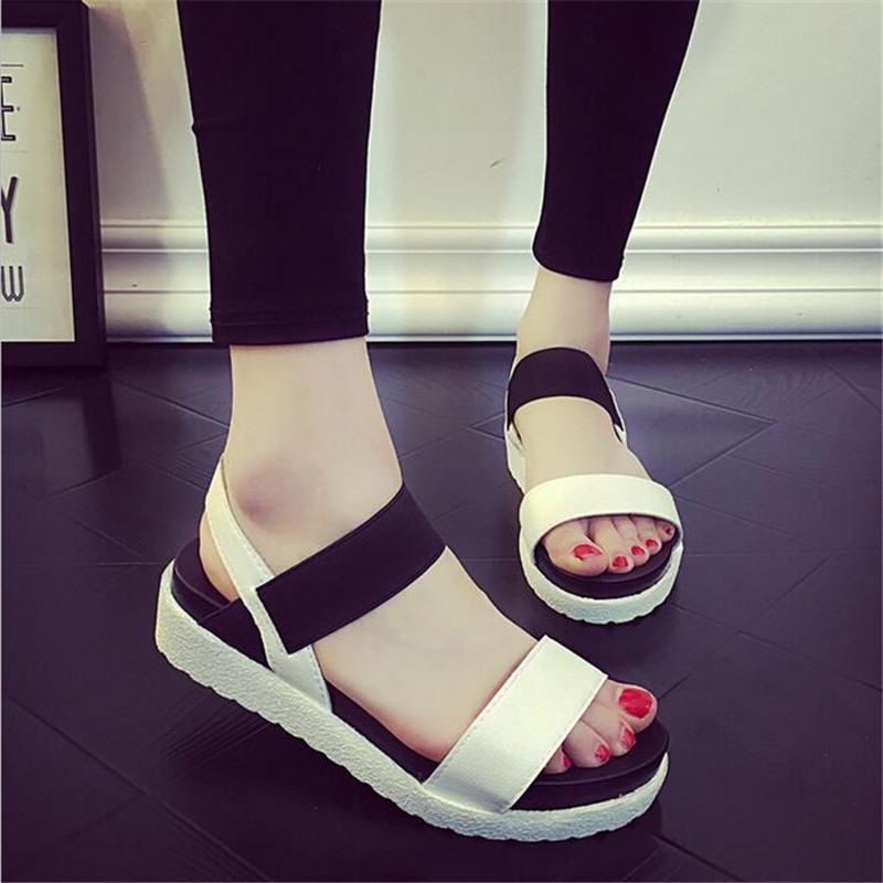 2018 Summer New Gladiator Women shoes Roman sandals shoes Women sandals peep-toe flat woman Rome sandalias mujer marlong women sandals summer new candy color women shoes peep toe stappy beach valentine rainbow jelly shoes woman
