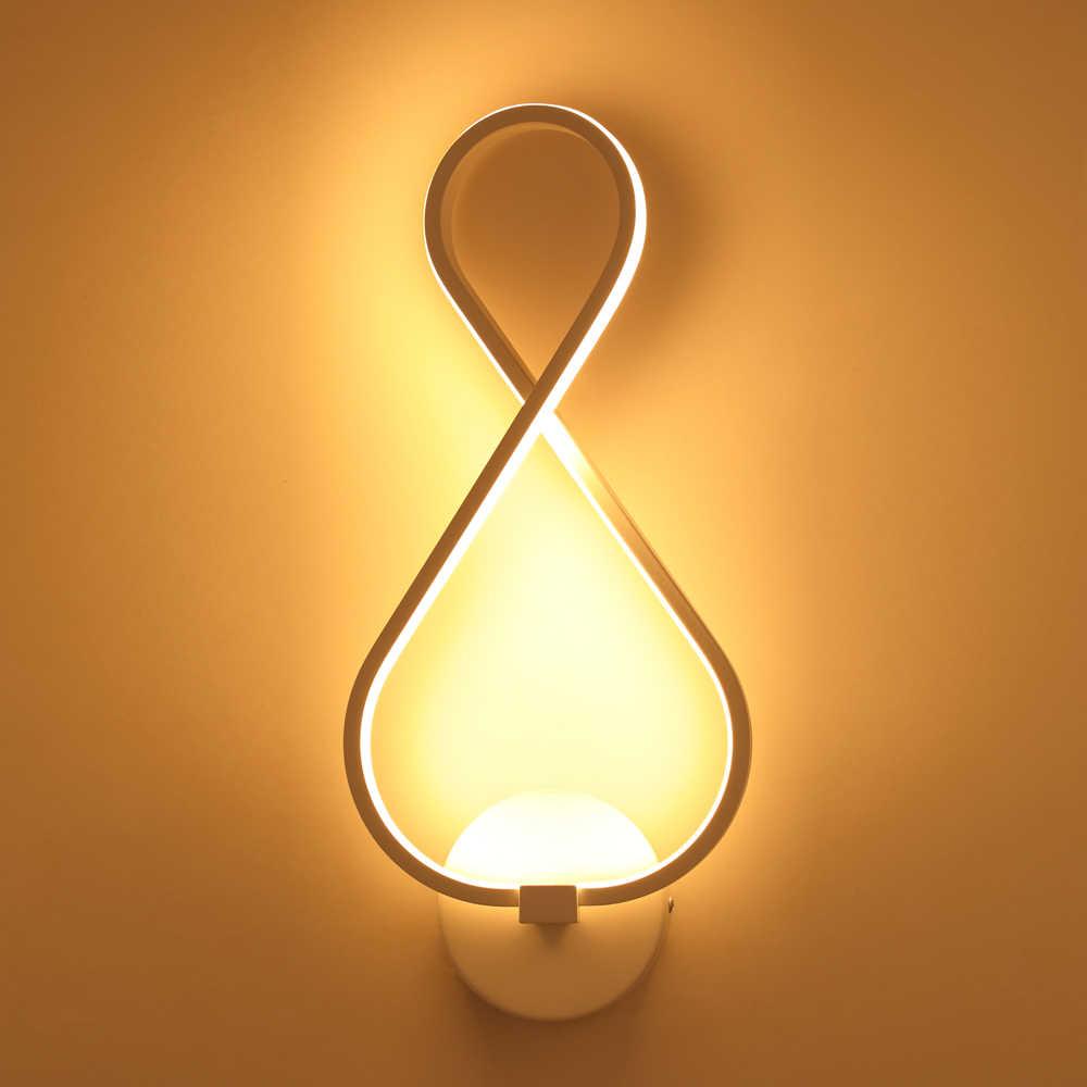 現代のミニマリストの壁ランプリビングルームベッド 16WAC110V-240Vリモコンled燭台ランプ通路の照明装飾
