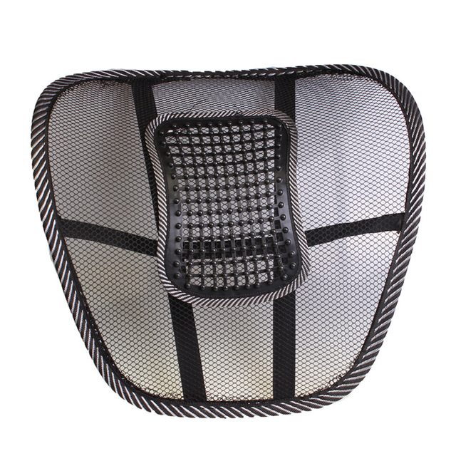 Chair Back Support Fit Gym Ball Mesh Pain Car Cushion Office Seat Brace Lumbar R 3743