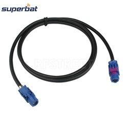 Superbat 8 Pcs Voertuig High-Speed Transmissie Fakra Hsd C Signaal Blauw Lvds 120 Cm Afgeschermde Dacar 535 4-Core Kabel