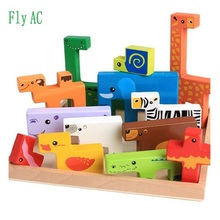 Fly AC Animal Upon Animal - Classic Wooden Stacking Game Fun for the Whole Family Creative toys for Children Birthday gift