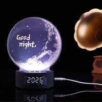Half moon good night multi function Bluetooth speaker colorful lights multi function stereo connect your MP3/MP4/CD/DVD/phone FM