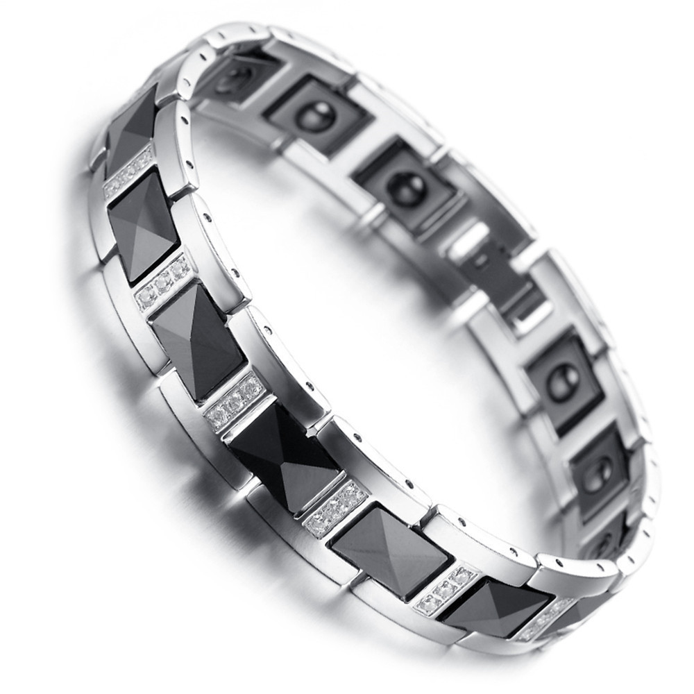 chain bijouxstore men bracelets polish en link carbide s bracelet tungsten