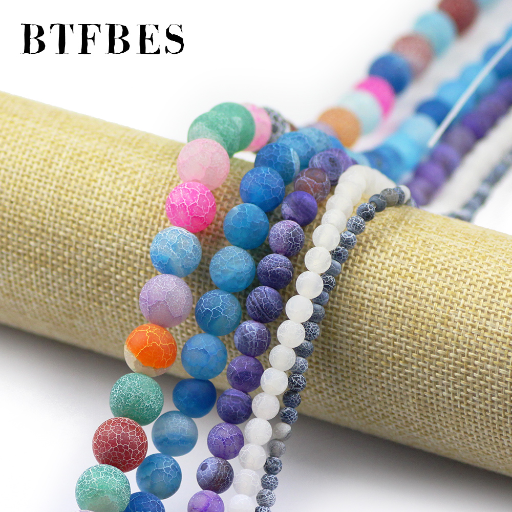 BTFBES Colorful Natural Stone Weathered Carnelian Beads Colored Stone Ball 4 6 8 10 12mm Round Loose Beads Jewelry Bracelet DIY