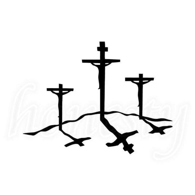 jesus cruz do calvário cristão vidro da janela do carro decalque