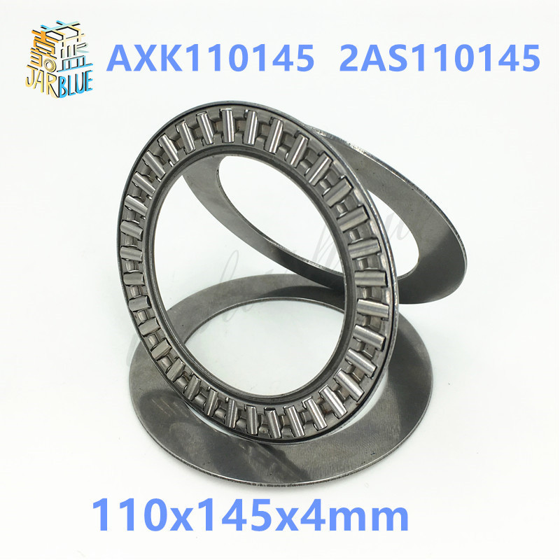 Free shipping 2pcs AXK series AXK110145  2AS110145 thrust needle roller bearing 110x145x4mm bearing  whosale and retail na4910 heavy duty needle roller bearing entity needle bearing with inner ring 4524910 size 50 72 22