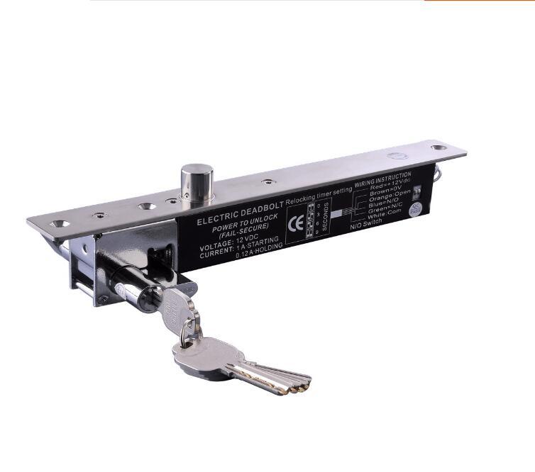 bilder für Fail Secure 24VDC/12VDC 5 linie Elektrische Drop-riegelschloss manuelle Tasten Für Zugangskontrollsystem Elektrische Riegel