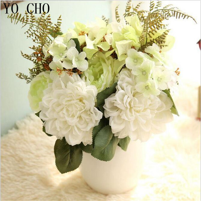 Yo Cho Artificial Flowers Silk Wedding Decoration Rose Peony Fake