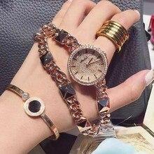 Роскошные Женщины Смотреть Известный Бренд Золото Дизайн Моды Браслет Часы Дамы Женщины Наручные Часы Relógio Femininos reloj mujer