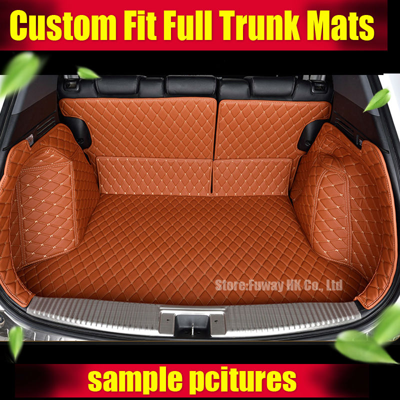 For Hyundai ix25 Creta Cargo Liner car trunk mat carpet interior Floor Mats leather pad car-styling products accessory 2015-17 special car trunk mats for toyota all models corolla camry rav4 auris prius yalis avensis 2014 accessories car styling auto