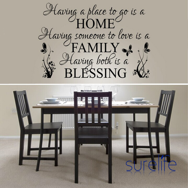 New 2017 Removable Vinyl <font><b>Having</b></font> <font><b>A</b></font> Place To <font><b>Go</b></font> Is <font><b>A</b></font> Home Wall Quotes Wallpaper Wall Art Decals Stickers Living Room Size 86*58cm