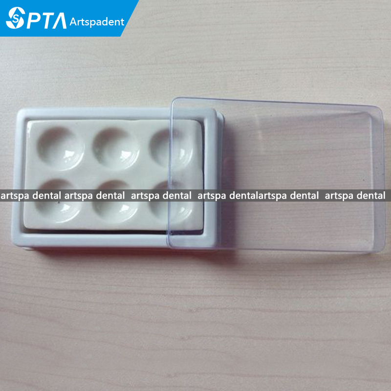 Dental Lab Porcelain Ceramic Mixing Material Watering Wet Tray Tool 6 Pits