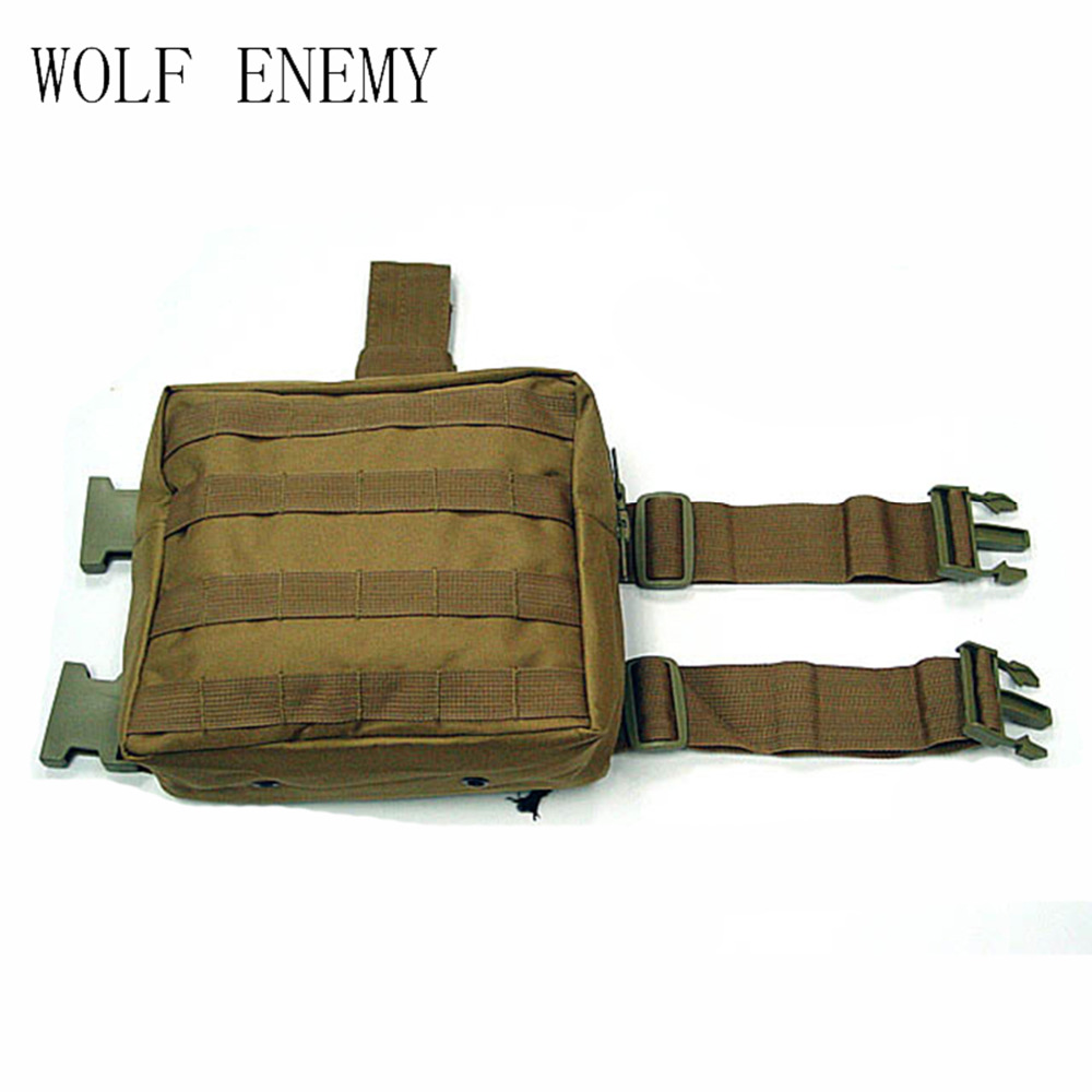 Army Military Molle Tactical DUMP Drop Leg Panel Utility Pouch Paintball Airsoft Storage Magazine Camo Waist Bag airsoft adults cs field game skeleton warrior skull paintball mask