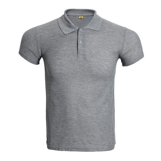 Новый Серый Рубашки Поло Мужчин Поло Homme Бренд Сплошной Цвет с коротким Рукавом Рубашки Поло Мода Slim Fit Дышащий Мужские Поло Xxxl