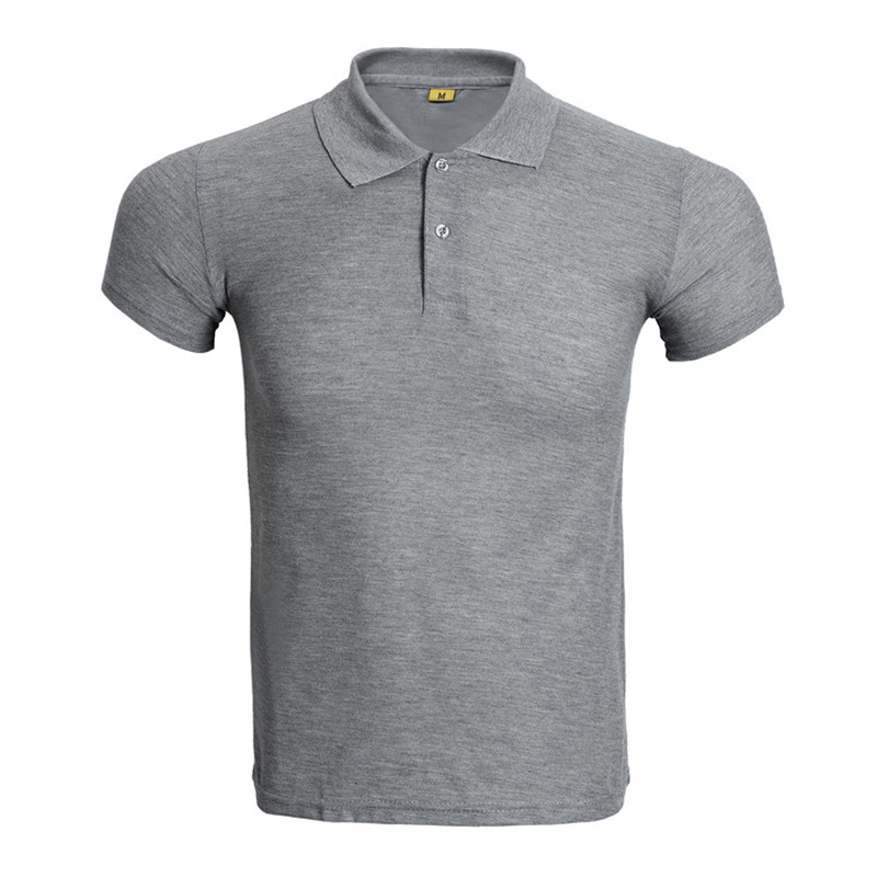 New Gray   Polo   Shirt Men   Polo   Homme Brand Solid Color Short Sleeve   Polo   Shirts Fashion Slim Fit Breathable Mens   Polos   Xxxl