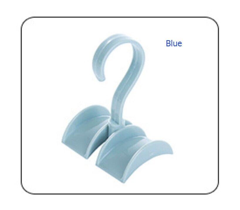 Шкаф Органайзер стержень вешалка Сумочка Хранение Кошелек Вешалка держатель крюк мешок s - Цвет: Синий