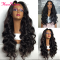 8A Long Body Wave Full Lace Front Wigs Human Hair With Baby Hair For Black Women Glueless Full Lace Brazilian Virgin Hair Wig