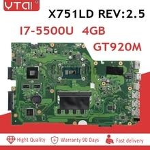 REV 2,5 I7-5500U для ASUS X751L K751L K751LN X751LK X751LD F751LD REV 2,5 I7-5500U Материнская плата ноутбука DDR3 HM86 100% тестирование