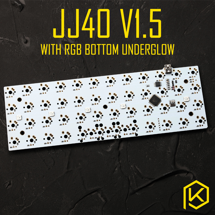 Jj40 V1.5 Custom Mechanical Keyboard 40% PCB Programmed 40 Planck Layouts Bface Firmware Gh40 Jd40 With Rgb Bottom Underglow Led