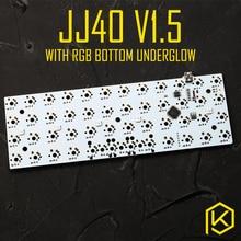 jj40 v1.5 Custom Mechanical Keyboard 40% PCB programmed 40 planck layouts bface firmware gh40 jd40 with rgb bottom underglow led