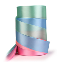Satin Ribbon Solid Color Double Face 32/38/50/63/75/100mm For Handmade Gift Wrap Christmas&Wedding Party Decoration BBXW 026E